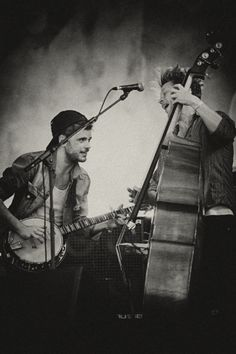 Winston Marshall and Ted Dwane of Mumford & Sons