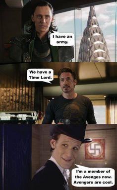 avengers meet doctor who