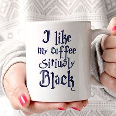 Harry Potter I Like My Coffee Siriusly Black 11oz Mug