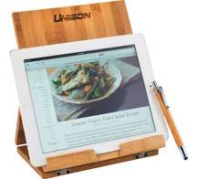 [1300-49] Tablet or Recipe Book Stand with Ballpoint Stylus