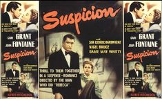 much inspiration to me is an alfred hitchock film suspicion 1941 Cary Grant, Alfred Hitchock, Torn Curtain, Dial M For Murder, Jamaica Inn, To Catch A Thief, North By Northwest, Tough Guy, Human Nature