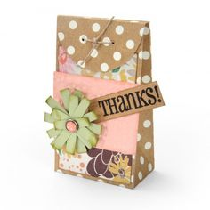 Embossed Thanks Gift Box