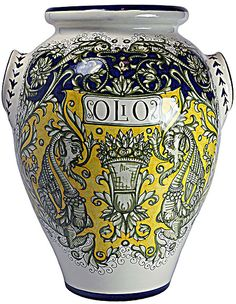 Italian Ceramic Floor Vase   #TuscanyAgriturismoGiratola