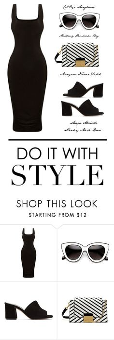 """""""Do It With Style - The Black and White Edition"""" by latoyacl ❤ liked on Polyvore featuring Maryam Nassir Zadeh and Mulberry"""