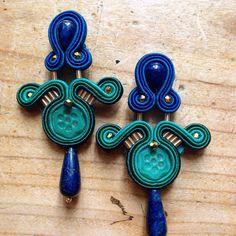 Blu&green orecchini soutache Carillon Bijoux #carillon #soutache #soutachemania #soutachejewelry #handmade #orecchini