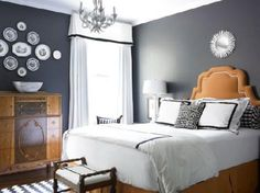 Grey Bedroom Ideas and designs Left hand wall