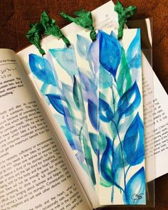 Always Painted, Never Printed! by TheWatercolorPad Bookmarks For Books, Custom Bookmarks, Paper Bookmarks, Watercolor Bookmarks, Watercolor Water, Watercolor Art Paintings, Paper Mosaic, Book Lovers Gifts, Lovers Art