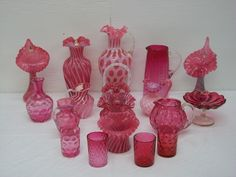 Collectible Glassware | Nice Collection of Cranberry Glass More Cranberry Glass