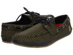I LIKE THESE.  Either green/black stripes or just black.  Size 12.  Grenade Lay Back Loafer Green/Black - 6pm.com