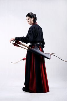 Traditional Chinese hanfu for archery by 夏雪憶夢