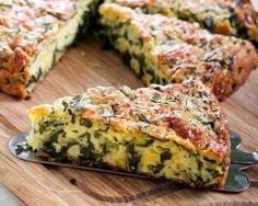 Quiche sans pâte aux épinards ultra simple Ingrédients