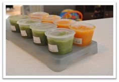 Stage 1 Baby Food: Green Beans, Butternut Squash, & Sweet Potatoes