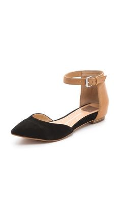 I love these d'Orsay Flats!!! I want a couple of pair for fall.  Dolce Vita Gav d'Orsay Flats with Ankle Strap
