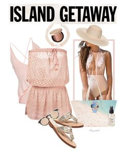 """Chic Island Geyaway"" by ragnh-mjos ❤ liked on Polyvore featuring Paige Gamble, Marysia Swim, Melissa Odabash, Olivine, Palm Beach Sandals, BCBGeneration, Too Faced Cosmetics, Chopard, Illesteva and Meg Carter Designs"