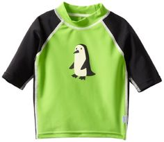 Baby-boys Infant Three-Quarter Sleeve Rashguard, Green Penguin penguin gifts for your penguin lover. Baby Penguins, Penguin Baby, Free Diapers, 10 Month Olds, Baby Furniture, Rash Guard, Quarter Sleeve, Swim Trunks, Baby Gear