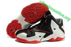 Triple Black Nike Lebron 11 White Sport Red