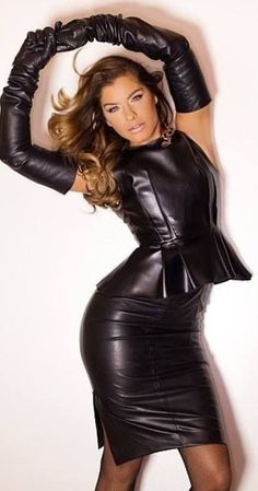 Leather Mini Dress, Black Leather Gloves, Leather Dresses, Leather Trousers, Leder Outfits, Leather Lingerie, Latex Dress, Club Outfits, Sexy Outfits