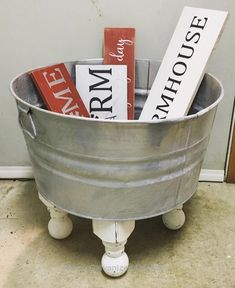 Learn How To Reuse Galvanized Buckets With These DIY Projects is part of Farmhouse decor - Learn How To Reuse Galvanized Buckets With These DIY Projects Worth Trying DIY Projects Country Decor, Rustic Decor, Farmhouse Decor, City Farmhouse, Repurposed Furniture, Diy Furniture, Rustic Furniture, Antique Furniture, Cabin Furniture