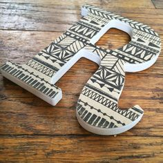 Decorative Wall Letter R Tribal Print With by MissouriHeartsCo