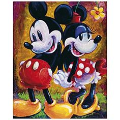 Disney ''Two Hearts'' Minnie and Mickey Mouse Giclée by Darren Wilson