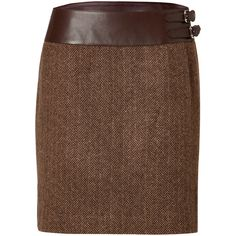 RALPH LAUREN BLACK LABEL Wool-Cashmere Herringbone Skirt In... (47.765 RUB) ❤ liked on Polyvore featuring skirts, bottoms, brown, юбки, brown skirt, brown knee length skirt, cashmere skirt, woolen skirts and camel skirt