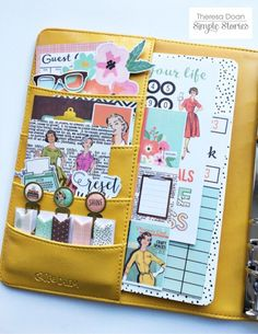 Marigold Carpe Diem planner with Reset Girl products from creative team member Theresa Doan