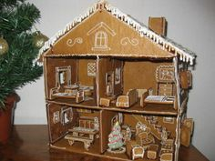 Did you have a doll house growing up? Did you think of a dream house for your little ones? Today we will show some crazy doll houses Christmas Bread, Christmas Gingerbread House, Italian Christmas, Christmas Baking, Christmas And New Year, Gingerbread Cookies, Christmas Cookies, Gingerbread Houses, Xmas