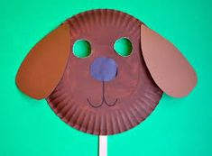 Resultado de imagen para masks for kids with paper plates Puppy Crafts, Farm Crafts, Daycare Crafts, Preschool Crafts, Crafts For Kids, Paper Plate Masks, Paper Plates, Puppy Birthday Parties, Puppy Party