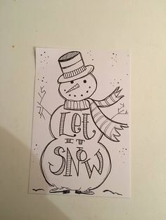 Learn how to make Easy and Fun Christmas Cards for Kids to Make – Simple Snowmen cards! Well this snowman will never melt, but it's bound to melt hearts. Fun Christmas, Homemade Christmas Cards, Christmas Lanterns, Christmas Canvas, Christmas Cards Drawing, Christmas Calligraphy Cards, Snowman Cards, Diy Gifts For Friends, Diy Weihnachten