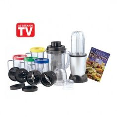 The 21 in 1 Party Mixer Blender replaces a food processor, blender, electric juicer and coffee grinder while occupying only the space of a coffee mug. Party Mixer, Pro Cook, Cooking Pork Chops, Electric Juicer, How To Make Salsa, Juice Extractor, Instant Recipes, How To Cook Rice, Magic Bullet