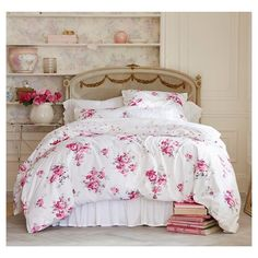 Pink Sunbleached Floral Duvet Cover Set - Simply Shabby Chic™ : Target