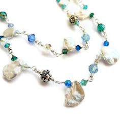 Freshwater Keishi Pearl Double Strand Necklace Wire by JanetDavies, $182.00