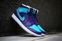 3d5f96a1e6762f Air Jordan 1 Mid Purple Gamma Blue. Sneakers FashionFashion ShoesMen s ...