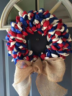 Patriotic Red White and Blue Decorative by MapleStreetCreation, $50.00