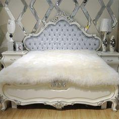 100%fur sheepskin mattress bed fur blanket bed cover natural wool Fleece blankets wool cashmere blanket plush Pure wool mattress #Affiliate