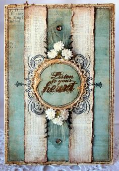 Beautiful mixed media card....janezas art blog