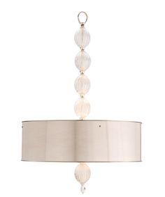 McKale Three Light Glass/Polished Nickel Pendant