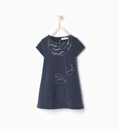 Image 1 of Dress with flower embroidery from Zara