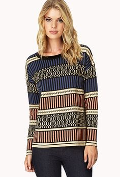 Standout Geo Sweater | FOREVER 21 - 2000110173 #F21CRUSH