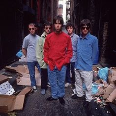 #Oasis photographed by : ©Kevin Cummins. | #LiamGallagher, #NoelGallagher, #Bonehead, #Guigsy, #TonyMcCarroll.
