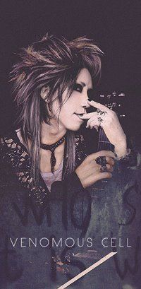 Aoi - Guitarist of the GazettE  (Japanese Visual Kei band)    His Hair. *^* <3