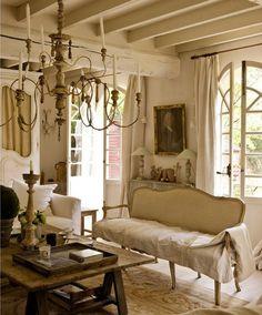 "Gustavian Style farmhouse in France restored by antique dealer Sophie, owner of the shop ""Au Temps des Cerises."