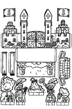 Bouwplaat kasteel van Sinterklaas
