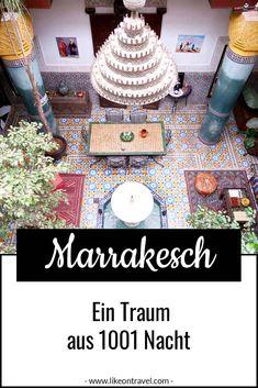 """MARRAKESCH - ein Traum aus 1001 Nacht! Buch dir einen günstigen Ryanair-Flug und los geht Dein nächstes Abenteuer! Damit Du gut vorbereitet bist, solltest Du dir unbedingt unsere """"10 Dinge, die Du machen solltest"""" & """"Mach es vs. Lass es"""" durchlesen! Viel Spaß in Marrakesch ;-) #marokko #marrakesch #tipps Morocco Destinations, Visit Marrakech, Volubilis, Morocco Travel, Travel Information, Trip Planning, Road Trip, How To Plan, Women"""