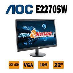"""Monitor Led 21.5"""" Aoc E2270swn 1920X1080"""