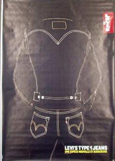 Vintage Advertising Posters, Vintage Advertisements, Vintage Posters, Vintage Clothing, Vintage Outfits, Vintage Fashion, Levis Jeans, Denim, Original Vintage