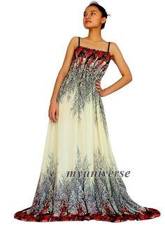 Maxi Dress Chiffon Bridesmaid Dress Women Prom Long by myuniverse