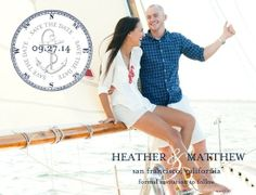 Nautical Save the Dates- Anchored Love:Baltic