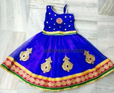 Blue Simple Skirt with Duppatta - Indian Dresses