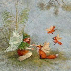 Fairy and foxes by ArtGalla.deviantart.com on @deviantART